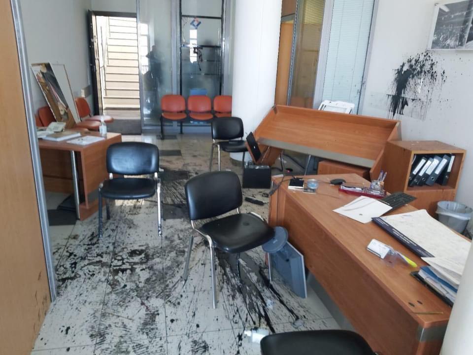 Γραφείο Αυγενάκη επίθεση