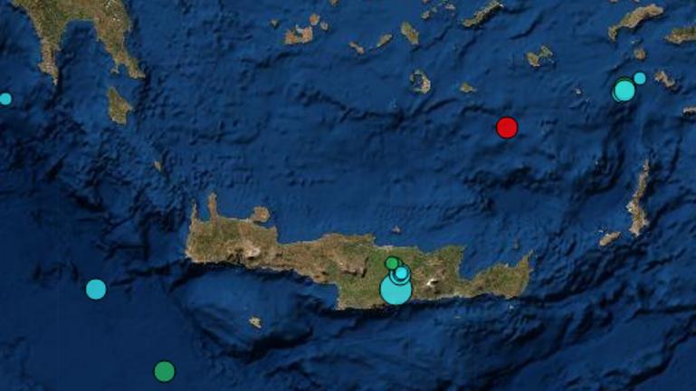 Δύο σεισμικές δονήσεις μέσα σε λίγη ώρα στην Κρήτη