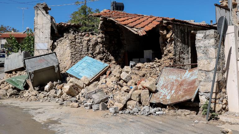Η Ε.Α.Γ.Μ.Ε. στις σεισμόπληκτες περιοχές του Ηρακλείου